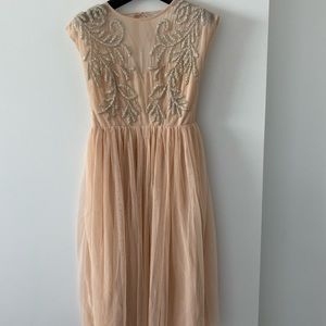 Asos beaded Art Deco open back dress size US6 UK10